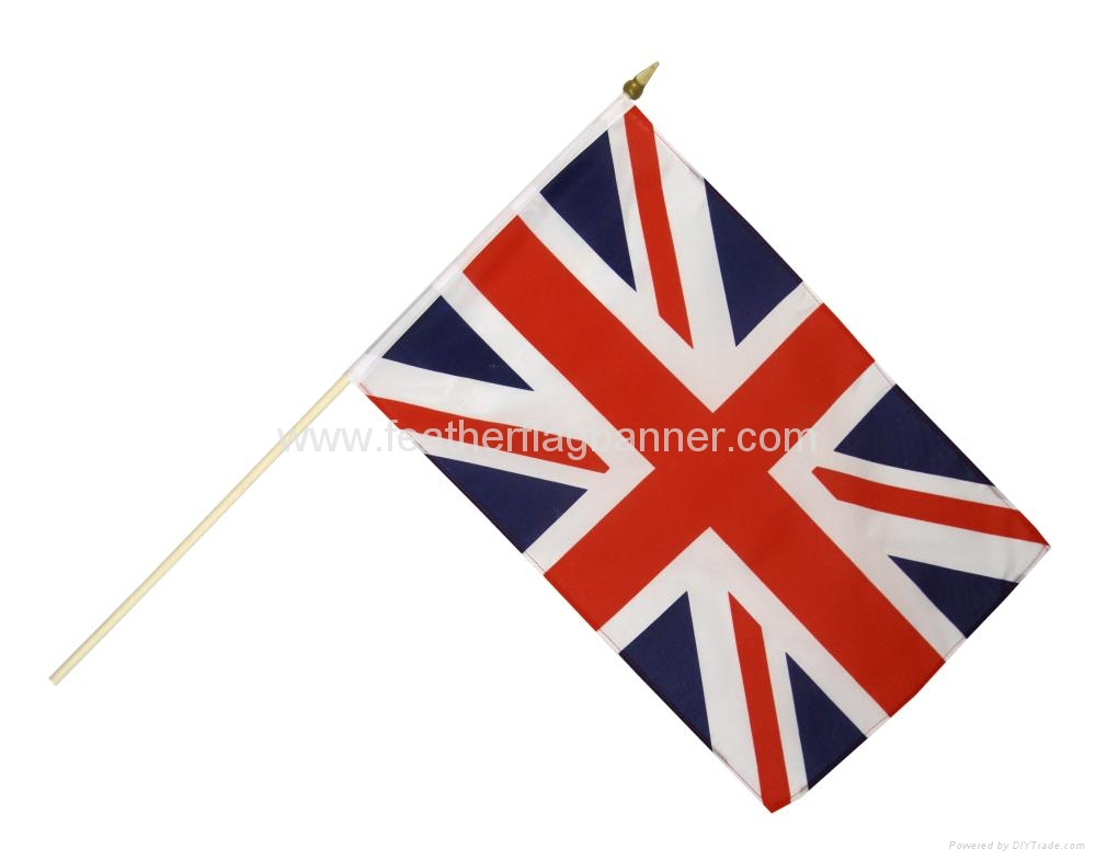 Promotional stick flags