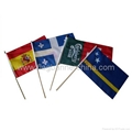 Full color stick flags