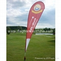 Custom promo teardrop flag     advertising printed flag