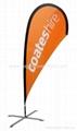 Advertising teardrop flags    Ad teardrop banner