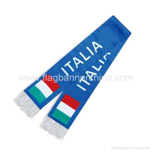 Printed logo scarf