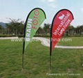 Custom event teardrop flags