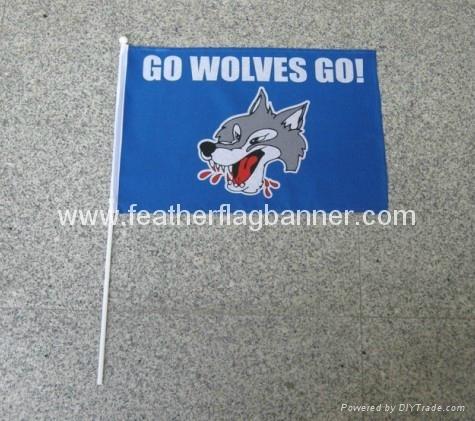 Custom band flag, event hand flag, hand stick flag, hand