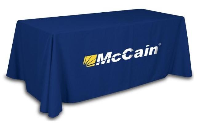 Custom logo table throw