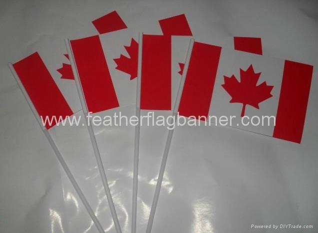 Hand flag banner