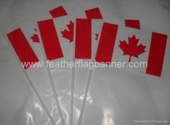 PVC hand stick flag