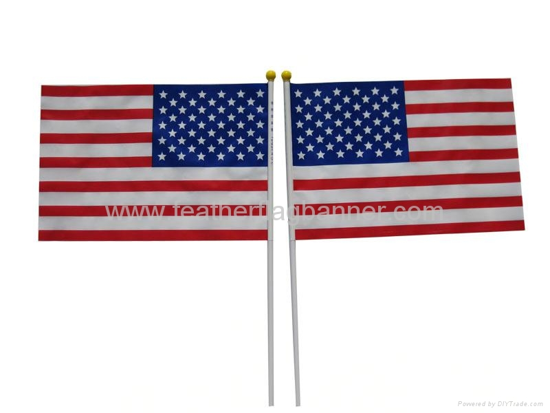 Hand stick flags