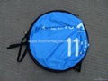 Oval pop out banner