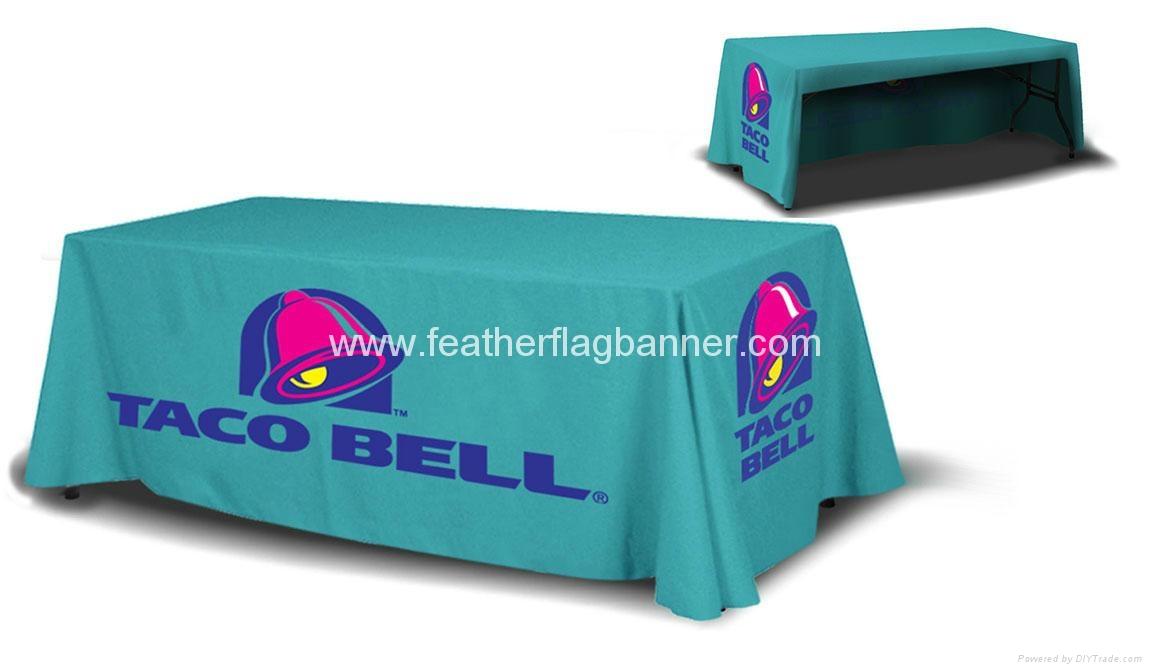 Branded fabric table cover    custom desk cover 3