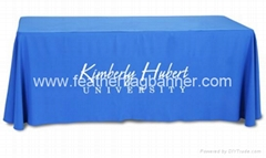 Digital printed table cloth   Printed table banner