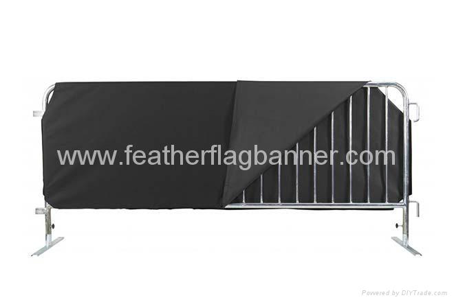 Custom polyester barricade cover