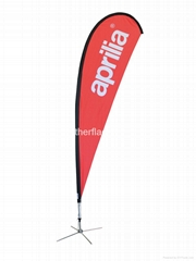 Personlized teardrop flags