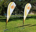 Printed teardrop flag banner