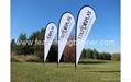 Custom event flags     Event teardrop banner