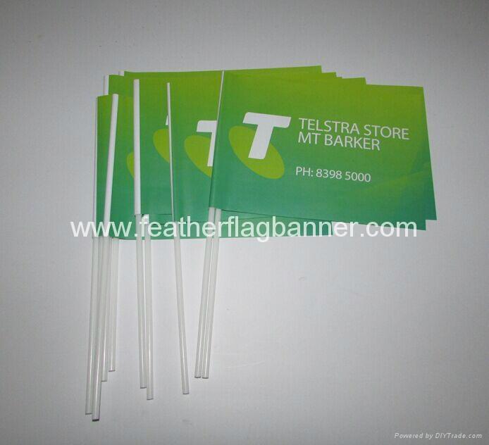 PVC hand waver flags