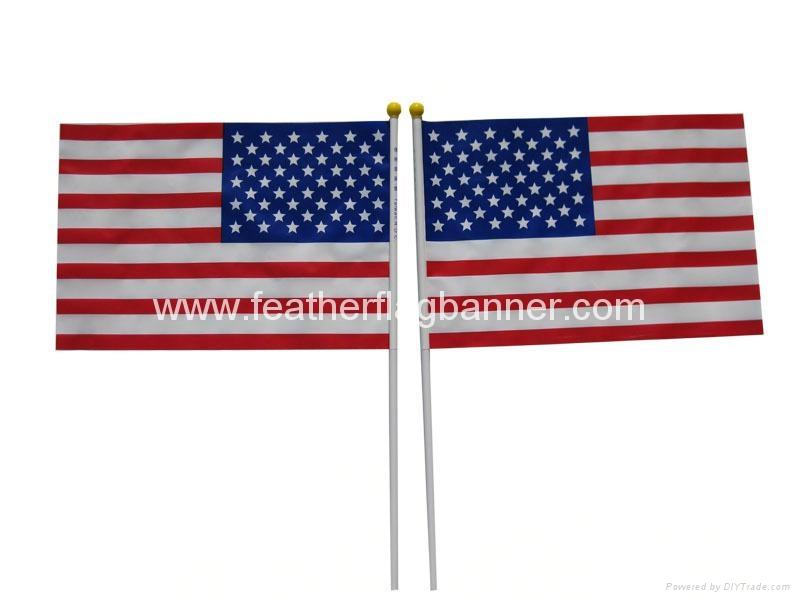 Custom hand stick flags
