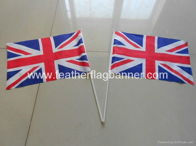 Fabric stick flags