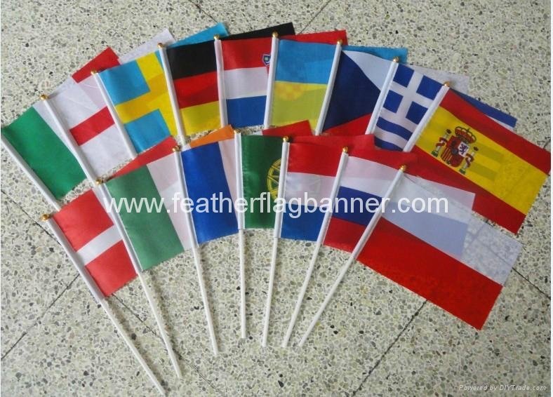 Cheap stick flags