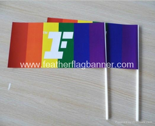 Stick flag banner