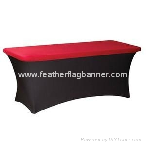 Tension fabric table cover    Stretch table cover 3