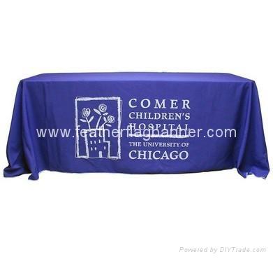 Branded fabric table cover    custom desk cover 2
