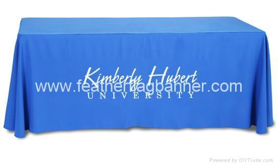 Branded fabric table cover    custom desk cover 4