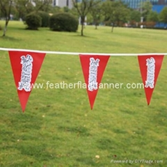Polyester event bunting string