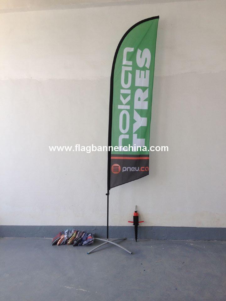 Custom logo  feather flags 3