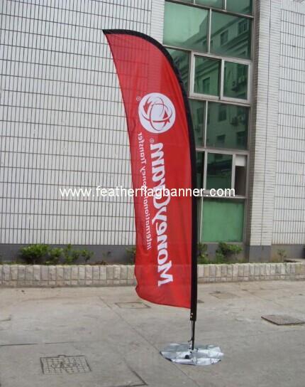 Custom logo  feather flags 2