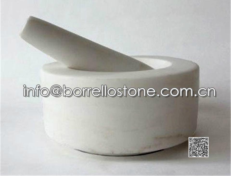 White Marble Mortar & Pestle
