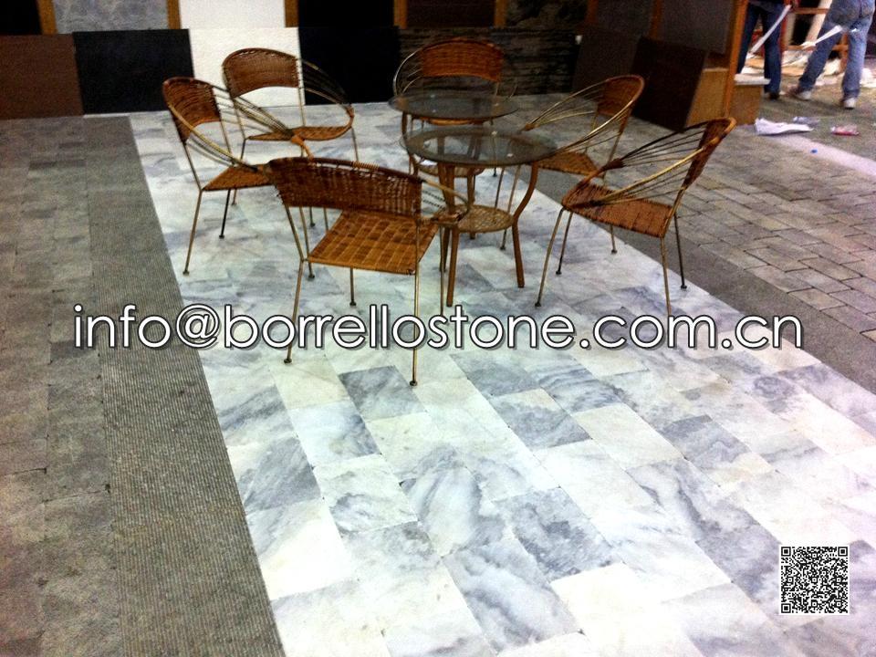 Cloud Grey Marble Flooring Tiles