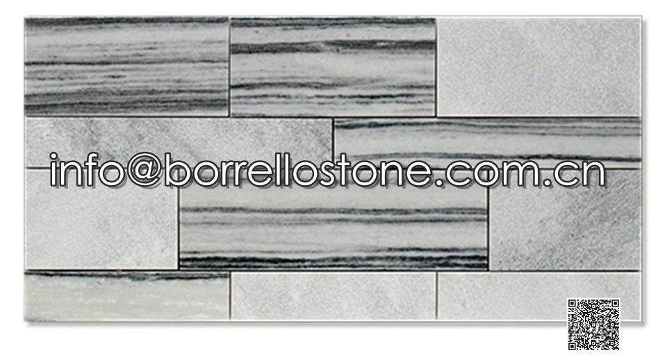 Grey Marble Stacked Veneer