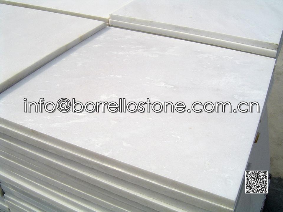 White Marble Tile: 600x600x20 mm