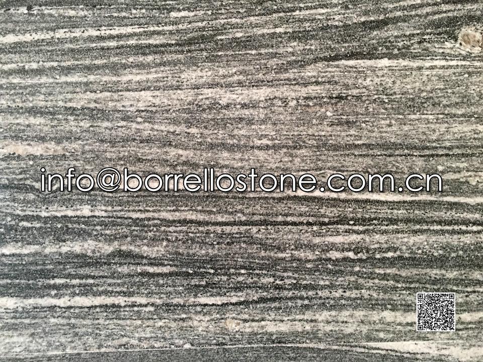 Nero Santiago Granite Tile ( Flamed + Brushed)