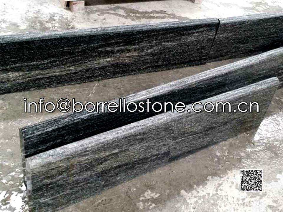 Nero Santiago Granite Steps