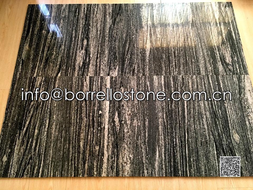 Nero Santiago Granite Tile ( Polished)