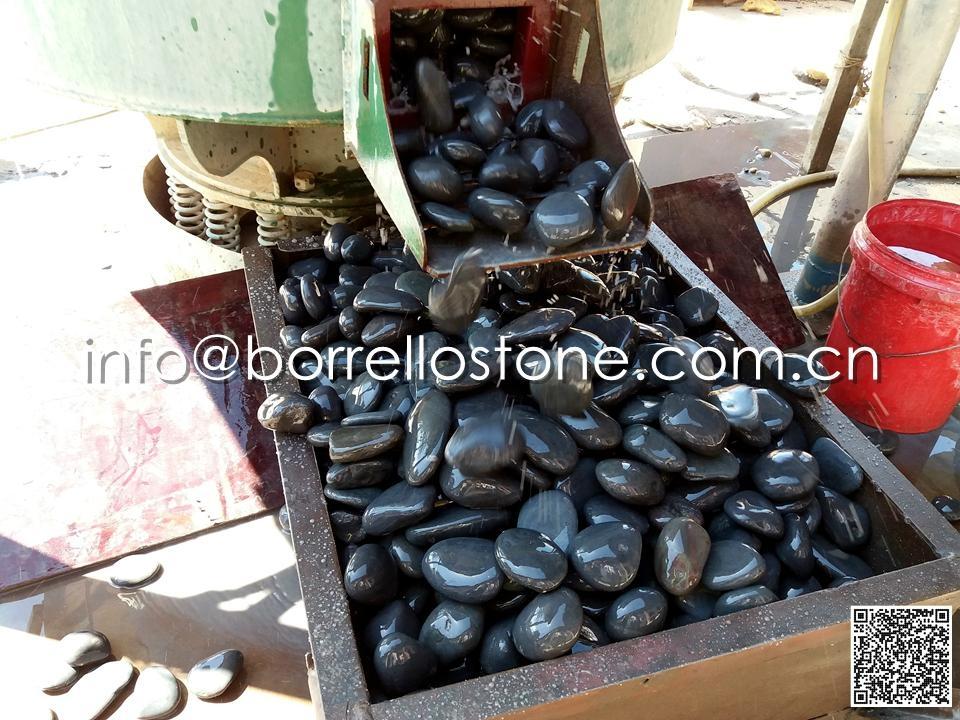 Flat Dark Grey Pebble Producing