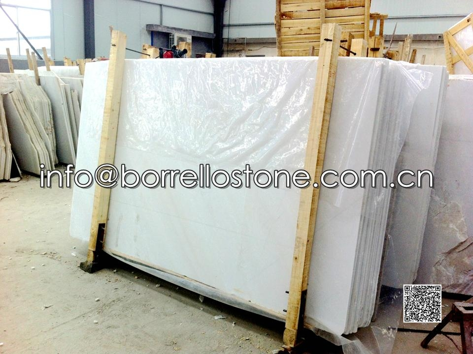 White Marble Gang Saw Slabs Packaging