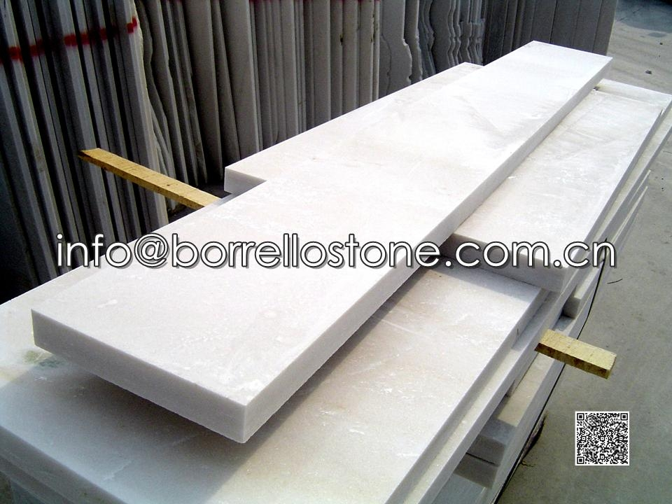 White Marble Stair Tread And Riser