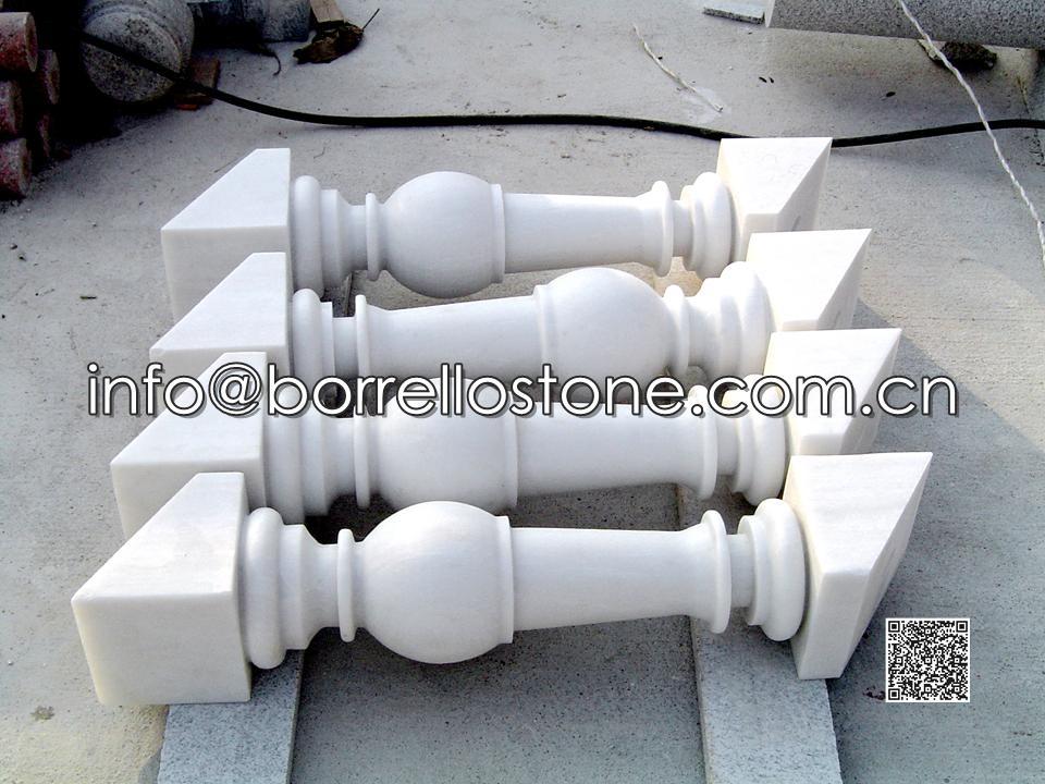 White Marble Handrails