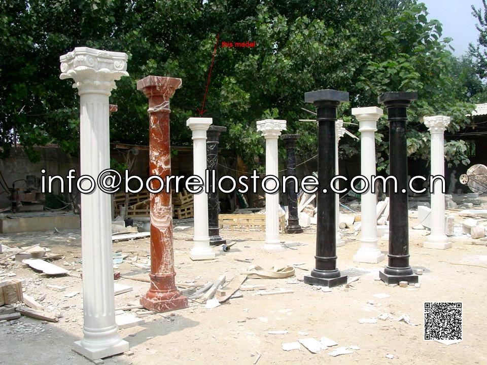 White Marble Pillars
