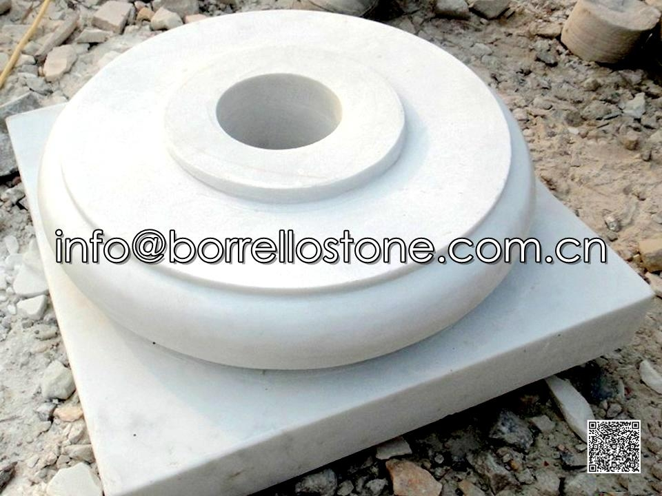 White Marble Pillars Cap