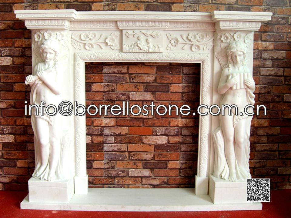 White Marble Fireplace - 03