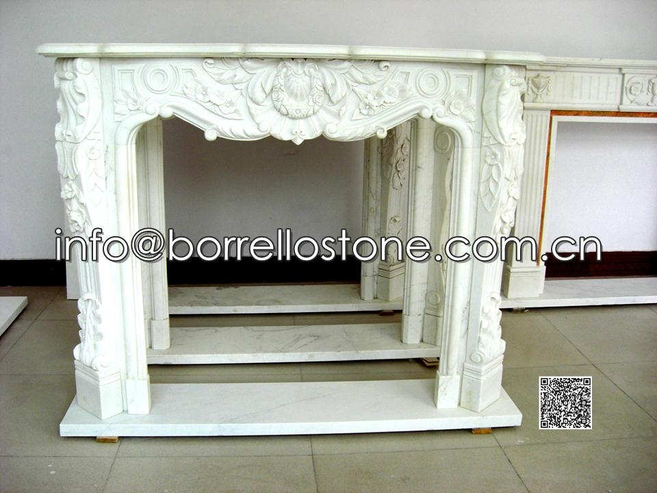 White Marble Fireplace - 05