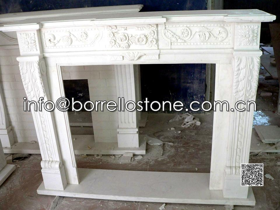 White Marble Fireplace - 08