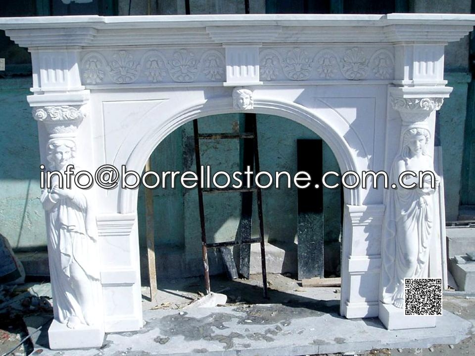 White Marble Fireplace - 11
