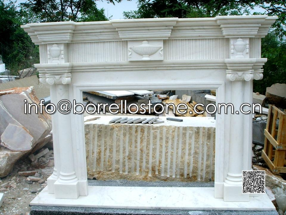 White Marble Fireplace - 12