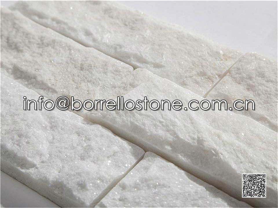 White Marble Stacked Veneer