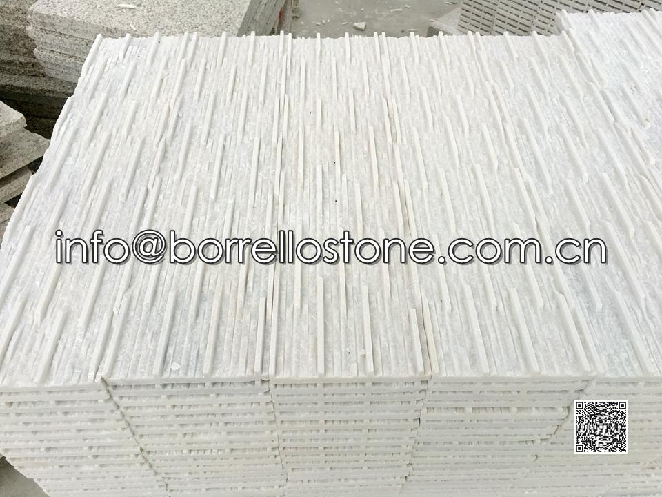 Axed- White Marble Stacked Veneer