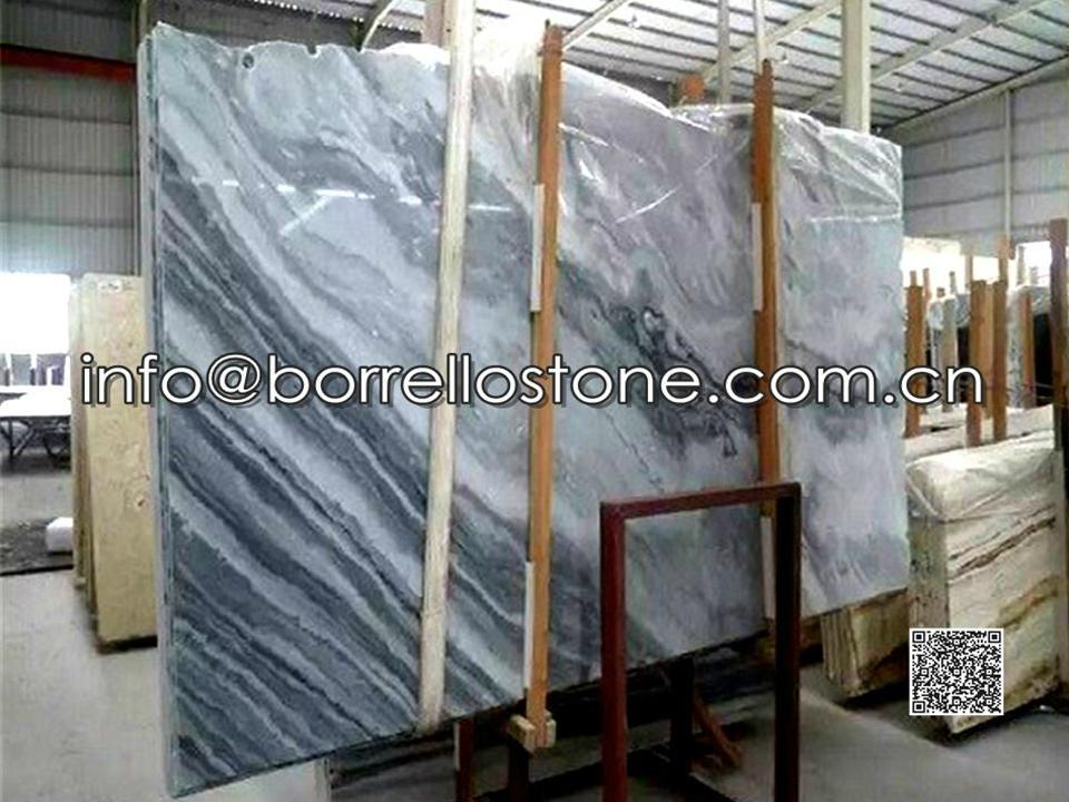 Grey Marble Gang Saw Slabs (Packaging)